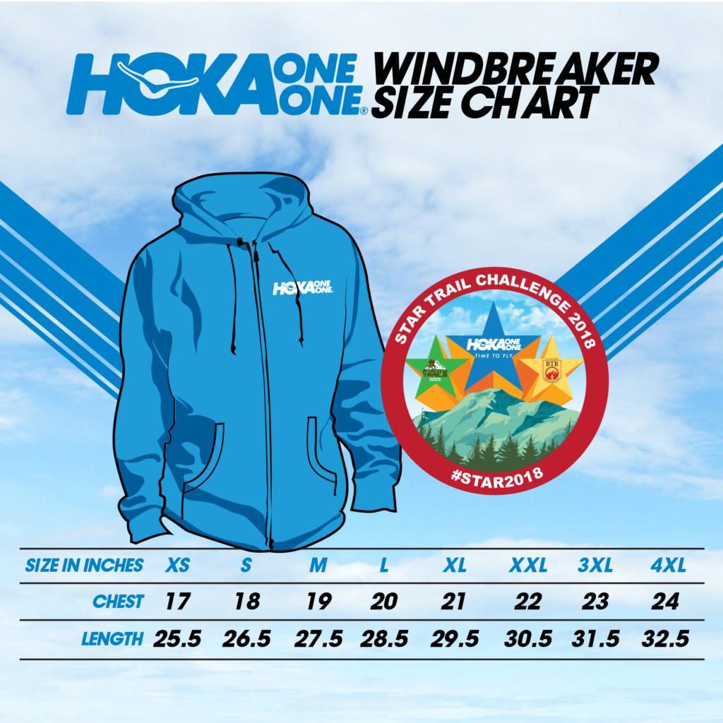 Hoka One One Windbreaker Size Chart